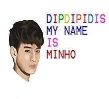 My name is minho Photographic Print