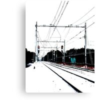 Track-in-the-snow Canvas Print