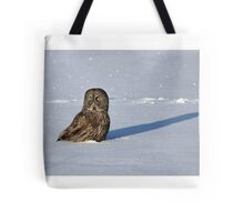 Great Grey Owl casts a long shadow Tote Bag