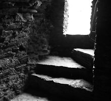 Shadow Stairs - Bishops Palace Wales UK by rach3