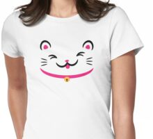 Silly Kitty Womens Fitted T-Shirt