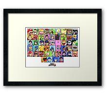 Super Smash Bros. for WiiU - Roster #1 Framed Print