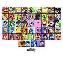 Super Smash Bros. Funny Roster  Photographic Print