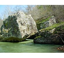 Water Flowing Through Boulders* Photographic Print