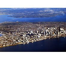 Seattle from Above Photographic Print