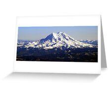 Aerial Panorama of Mount Rainier Greeting Card