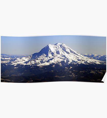 Aerial Panorama of Mount Rainier Poster