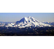 Aerial Panorama of Mount Rainier Photographic Print