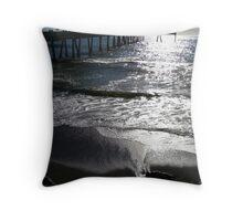 Pier in Pacifica, San Francisco Bay Area, California Throw Pillow