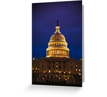 The United States Capitol Building at Twilight Greeting Card