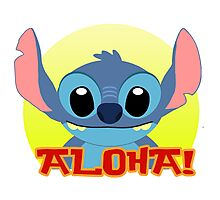 Aloha! Stitch Photographic Print