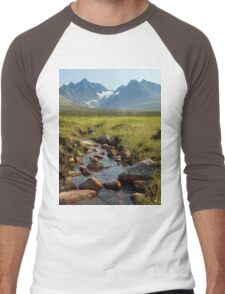 an exciting Norway landscape Men's Baseball ¾ T-Shirt