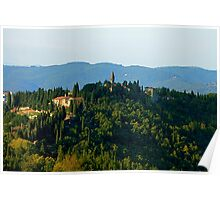 Mountains of Tuscany Poster
