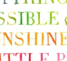 Lilly Pulitzer - Anything is Possible With Sunshine and A Little Pink Sticker