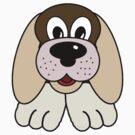 Children's Brown Puppy Dog 3 by Chere Lei
