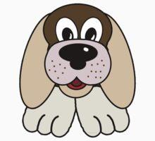 Children's Brown Puppy Dog 3 One Piece - Short Sleeve