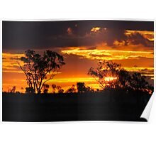 Sunset  Roma Queensland Poster