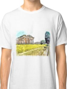Paestum: tree and temples Classic T-Shirt