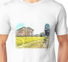 Paestum: tree and temples Unisex T-Shirt