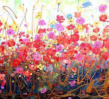 Bright Modern Floral Dream by HannahTiffinArt