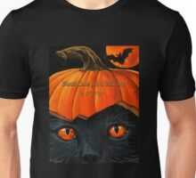 "Black Cats get a Bad Rap - ""Pumpkin Hat"" Unisex T-Shirt"