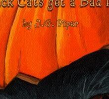 """Black Cats get a Bad Rap - """"Pumpkin Hat"""" Sticker"""