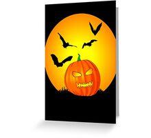 Halloween Moon Jack-O-Lantern Greeting Card