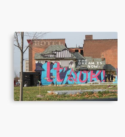 Hotel in Detroit, Michigan Canvas Print