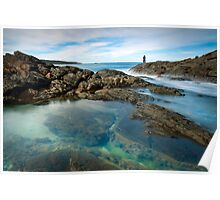 Fingal Bay rock pools Poster