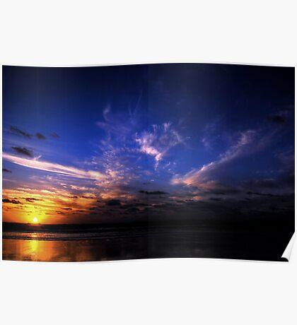 Sunset at Kareotahi Beach Poster