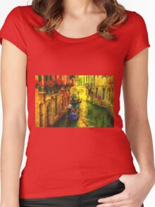 Italian Red Women's Fitted Scoop T-Shirt