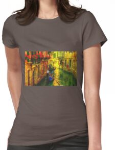 Italian Red Womens Fitted T-Shirt