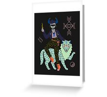 Witch Series: Demon Greeting Card