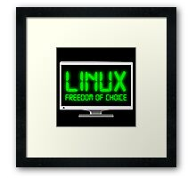Linux - Freedom Of Choice Framed Print