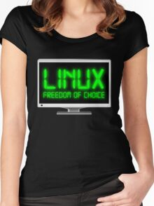 Linux - Freedom Of Choice Women's Fitted Scoop T-Shirt