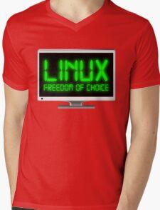 Linux - Freedom Of Choice Mens V-Neck T-Shirt