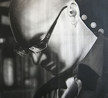 Warren Haney,  'Life of Byron'  150 cm x 100 cm Charcoal and Acrylic on Stretched Canvas by Warren Haney