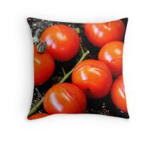 Roasted Cherry Tomatoes Throw Pillow