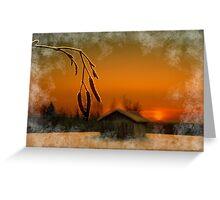 Winter evening light Greeting Card
