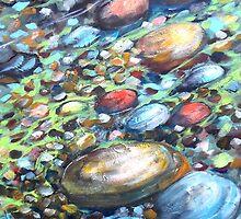 River Bottom, Acrylic, Expressionist by HannahTiffinArt