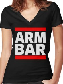Jiu Jitsu - Arm Bar Women's Fitted V-Neck T-Shirt