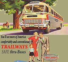 Old Trailways Bus Lines by Mike Pesseackey (crimsontideguy)