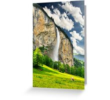 Swiss Waterfall Greeting Card