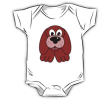 Children's Red Puppy Dog One Piece - Short Sleeve