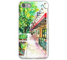 Pizza or Ice Cream, Impressionist, City Landscape iPhone Case/Skin