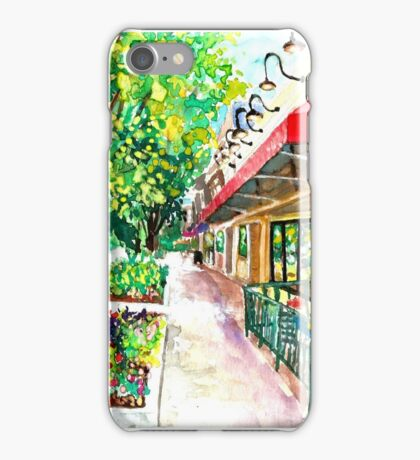 Pizza or Ice Cream, Impressionist, City Landscape iPhone Case/Skin