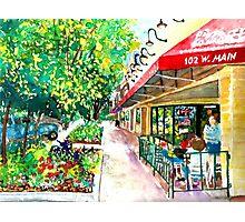 Pizza or Ice Cream, Impressionist, City Landscape Photographic Print