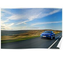VW Scirocco on the Yorkshire Moors .... Poster