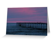 The Pier - Saltburn (Split Toned) Greeting Card