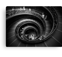 Winding Down (in B&W) Canvas Print